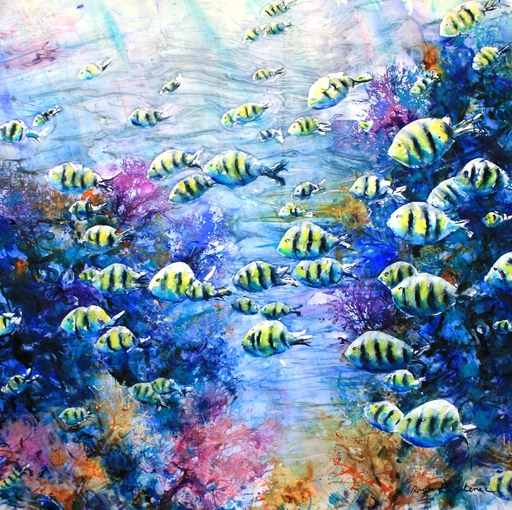 Roger BOUBENEC - Dessin-Aquarelle - poissons bagnard