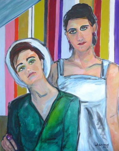 Antje SCHLAUD - Painting - Schwesterchen