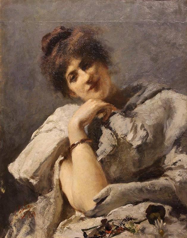 Emilio GOLA - Peinture - In posa