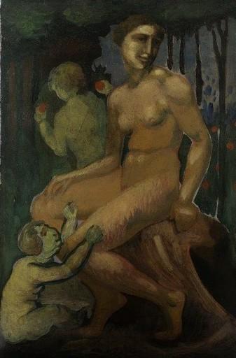 Max ACKERMANN - Gemälde - Frauenakt mit Kindern