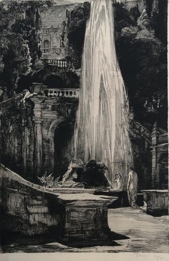 Albert DECARIS - Grabado - Tivoli - Villa d'Este