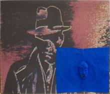 Nam June PAIK (1932-2006) - Humphrey Bogart con maschera e mini TV