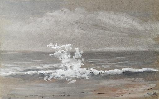Alfred KELLER - Dibujo Acuarela - Le Tréport - la vague - la falaise (KP11 et 12)