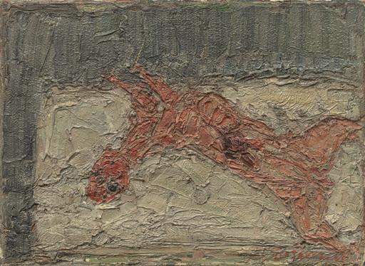 André COTTAVOZ - Pittura - Lapin écorché