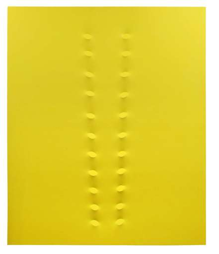Turi SIMETI - Pittura - 22 ovali gialli