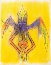 Wifredo LAM - Grabado - Innoncence - from the suite Pleni Luna