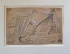 Issachar Ber RYBACK - Drawing-Watercolor -  5 Drawings ,1917