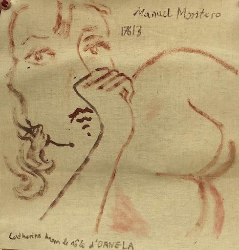 Manuel MONTERO - Peinture - Catherine dans le rôle d'Ornela
