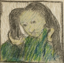 Édouard VUILLARD - Dibujo Acuarela - Portrait of Marie Vuillard