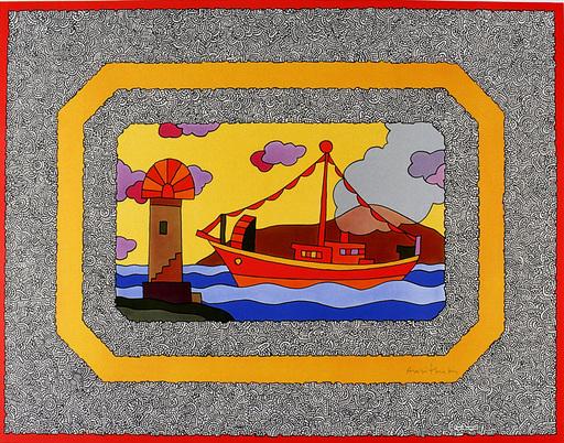 Alexis AKRITHAKIS - Estampe-Multiple - Ship