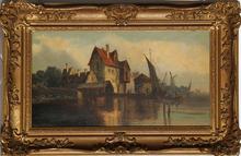 Ludwig HERMANN - Peinture - Hollandische Landschaft