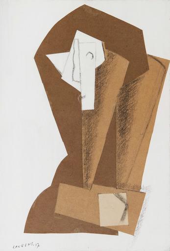 Henri LAURENS - Dibujo Acuarela - Tête de femme