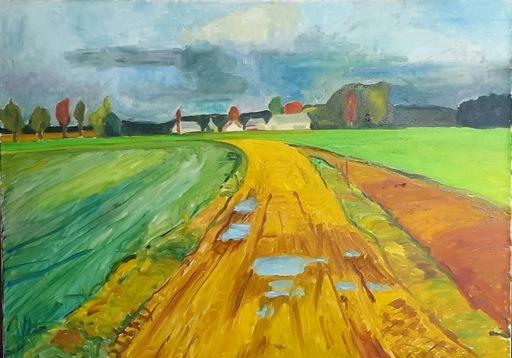 Ewa WITKOWSKA - Painting - Road
