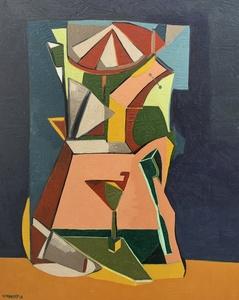 Frédérique MANLEY - Painting - Oeuvre cubiste