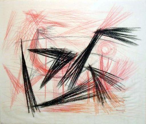 CORNEILLE - Painting - La danse des oiseaux