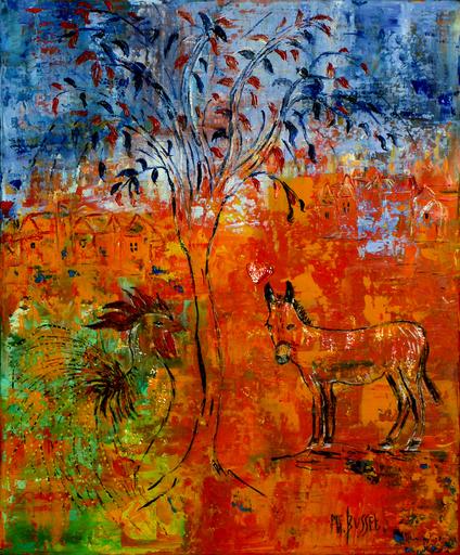 Marie-France BUSSET - Peinture - DU COQ A L'ANE