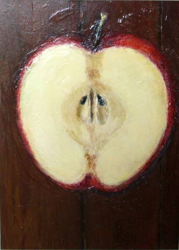 Levan URUSHADZE - Pittura - Half of apple