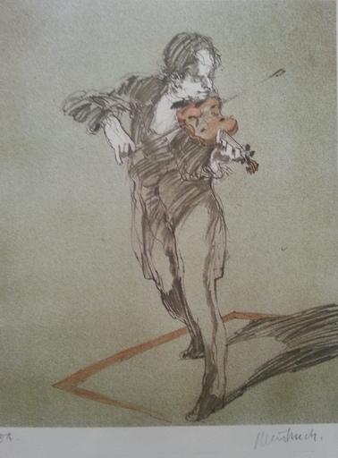 Claude WEISBUCH - Print-Multiple - Le violoniste
