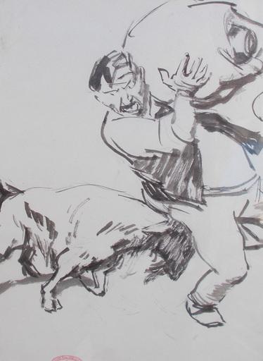 Théodore VAN ELSEN - 水彩作品 - La chèvre
