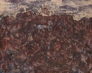 Jean DUBUFFET - Pintura - Paysage au chien bleu