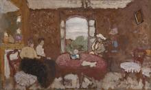 Édouard VUILLARD - Pintura - Lucy Hessel en visite chez les Roussel à Cricqueboeuf