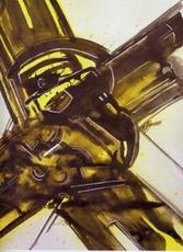 Gianni BERTINI - Painting - Prometeo scatenato
