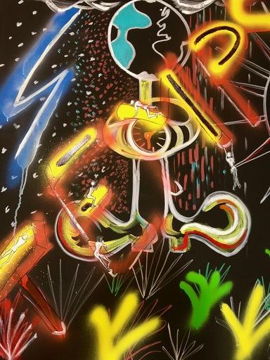 Christine DUMAS DE RAULY - Peinture - Le Temps