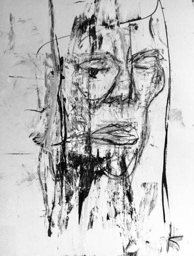 Guillaume KALT - Dibujo Acuarela - Visage    (Cat N° 6155)