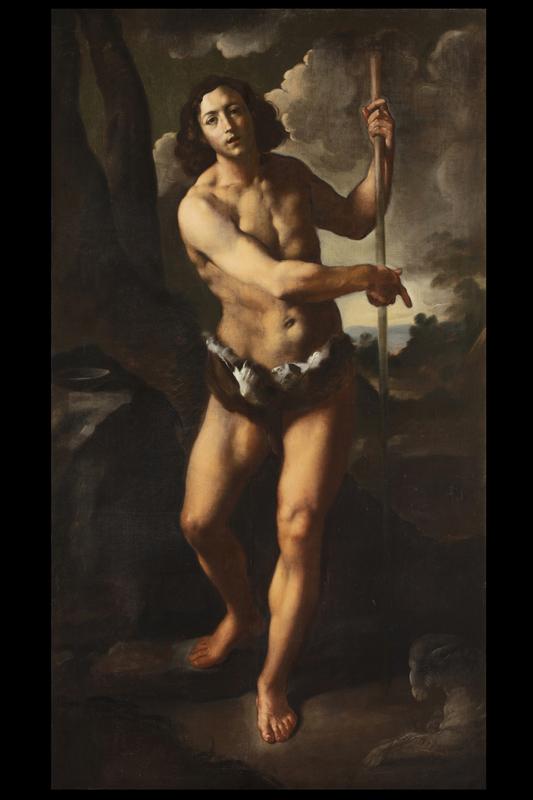 Simone CANTARINI - Painting - San Giovanni Battista
