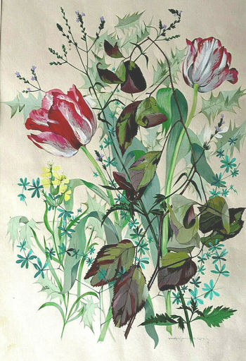 Marguerite COUY - Drawing-Watercolor