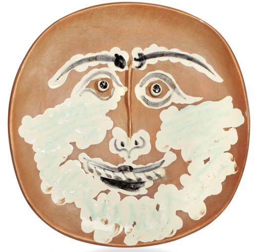 巴勃罗•毕加索 - 陶瓷  - Visage barbu