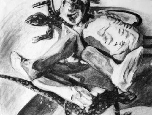 Flo JAOUEN - Drawing-Watercolor - « Pirouette cacahuète 4 »