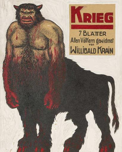 Willibald KRAIN - Pittura - KRIEG