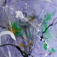 Fabien BOUGUENNEC - Gemälde - Violette