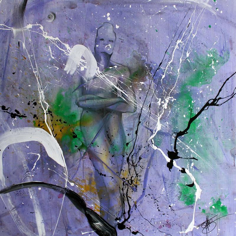 Fabien BOUGUENNEC - Peinture - Violette