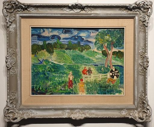 Carlos NADAL - Painting - Partie de Golf
