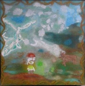 ATCHAMA - Painting - l ange gardien