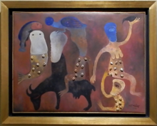 Manuel MENDIVE - Painting - Conversando