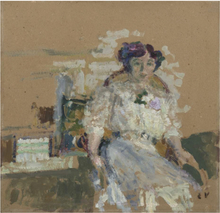 Édouard VUILLARD - Peinture - Portrait de Madame Hessel