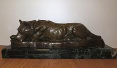 Georges Lucien GUYOT - Sculpture-Volume - Chien couché