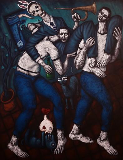 Nicolas MONJO - Peinture - Les porteurs
