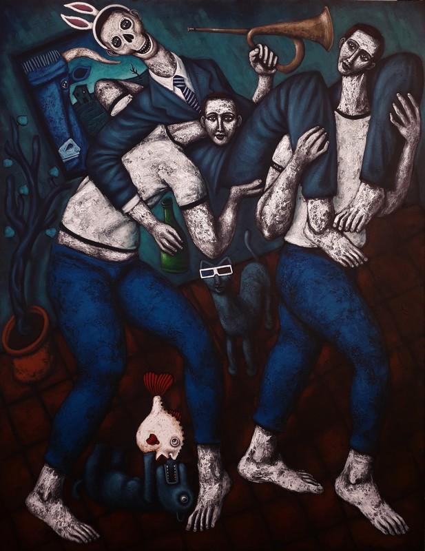 Nicolas MONJO - Pintura - Les porteurs
