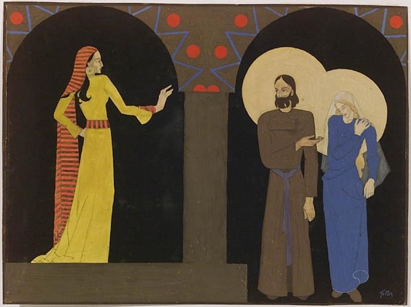 """Julie SITTE - Zeichnung Aquarell - """"Art Deco Stage Design"""", 1920's"""