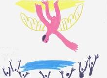 Pablo PICASSO - Drawing-Watercolor - La Chute d'Icare