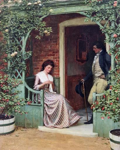 Edmund Blair LEIGHTON - Pittura - A Quiet Moment