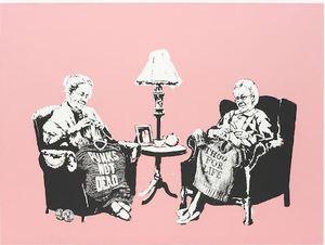 BANKSY - Estampe-Multiple - Grannies