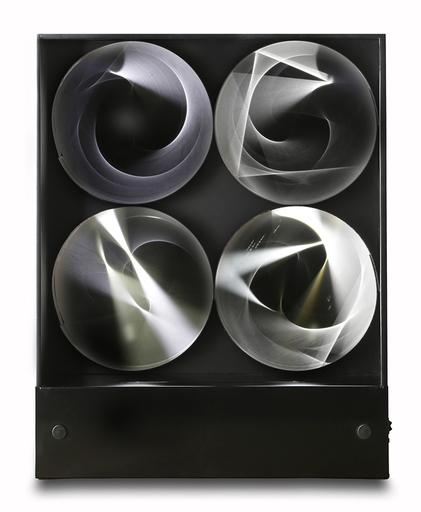 Julio LE PARC - Sculpture-Volume - Continuel Lumière à 4 cilindres