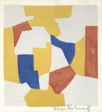 塞尔日•波利雅科夫 - 版画 - Composition en gris, jaune rouge et bleu n°26