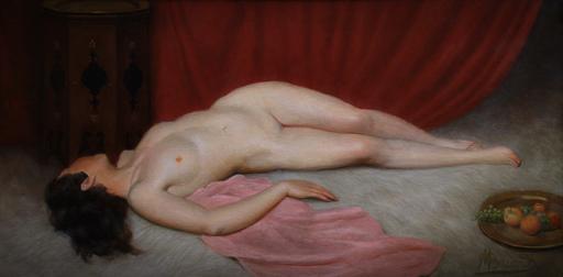 """Maurice BRIARD - Pintura - nu orientaliste """" odalisque évanouie """""""