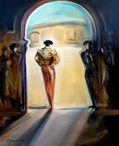Joaquin GONZALEZ CUEVAS - Pintura - La soledad del maestro
